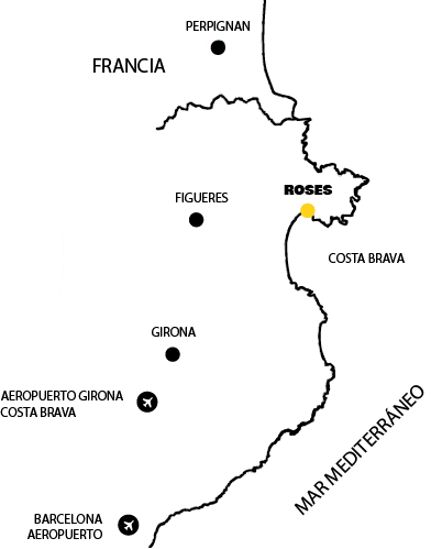 Mapa Roses Costa Brava